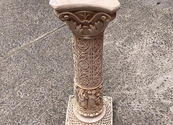 Beautiful Plaster Pedestal Column Stand
