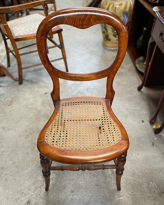 Outstanding Antique Victorian Cedar Balloon Back Entrance Chair