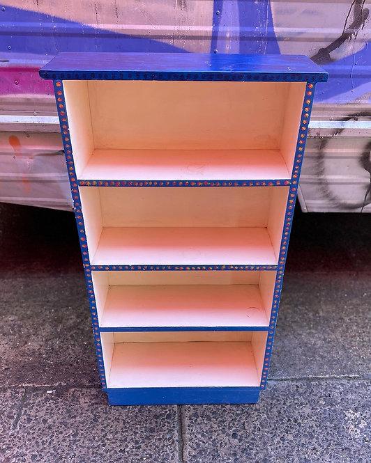 Beautiful Vintage 4-Tier Blue Colour Kids Bookshelf