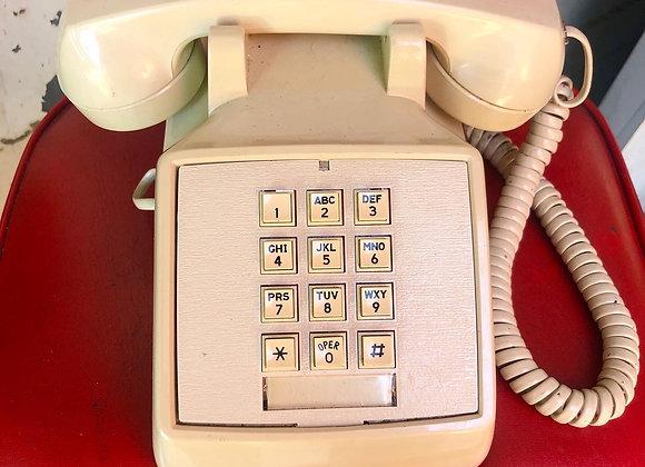 Vintage White Stromberg Model 2500DM Telephone from 1983