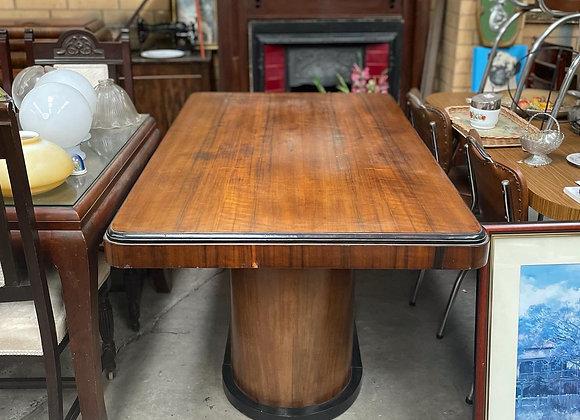 Stunning Rectangular Art Deco Table with Original Removalist Mark