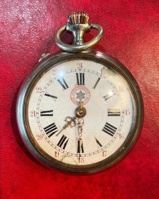 Rare Antique Cortébert-Superieure Silver Pocket Watch from C.1900s (Switzerland)