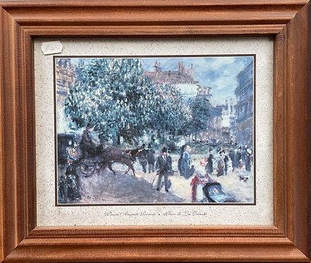 Lively 'Place de la Trinite' by Pierre-Auguste Renoir Print, 1875