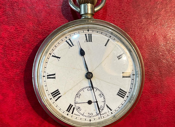 """Stunning Antique Open Face 1893/40 Pocket """"MO"""" Pocket Watch from C. 1930s (Switz"""