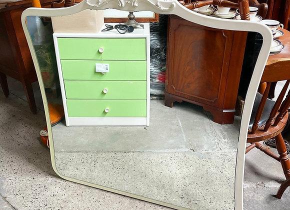 White Elegant Frame Mirror in Very Good Condition