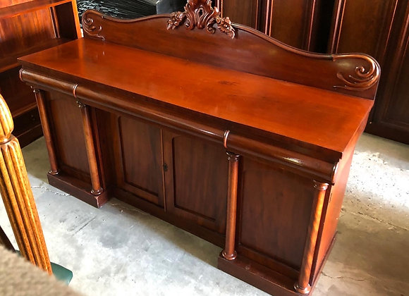 Antique Beautifully Carved Victorian Cedar Sideboard