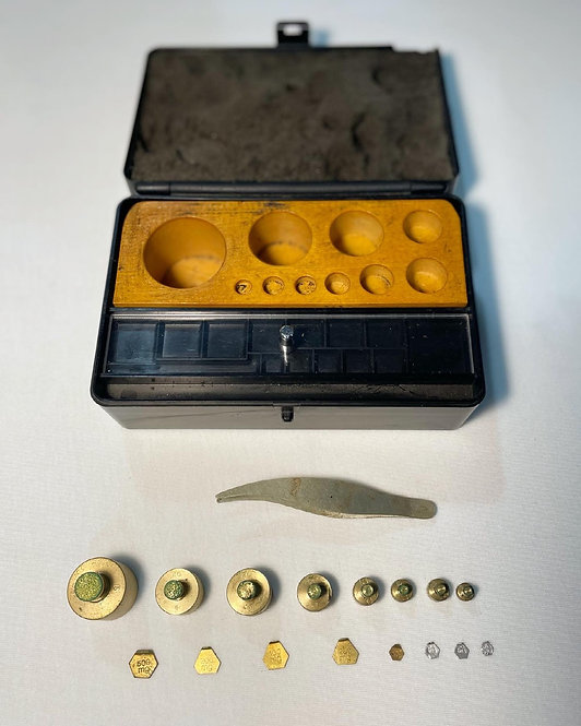 Vintage Jewellery Scale Calibration Weights manufactured by N. G. Brown & Associ