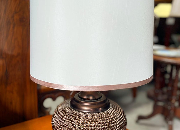 Unique Vintage Table Lamp with White Shade