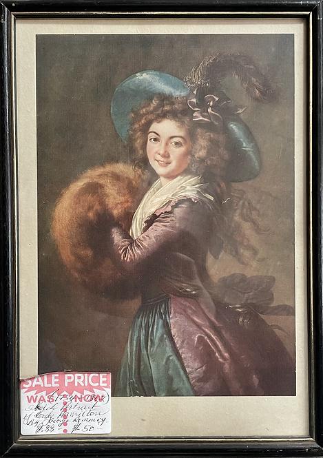 A Print of Sketch Portrait of Lady Hamilton by George Romney