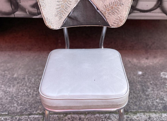 Mid-Century Retro Chrome Handle & Base Kitchen Chair