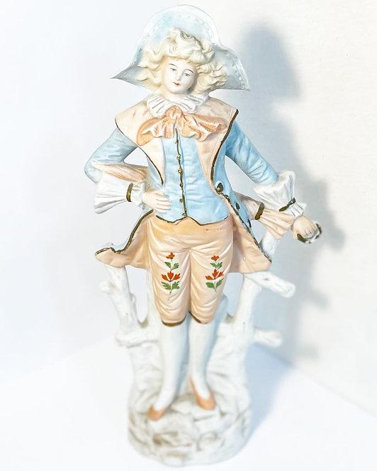 Victorian Hand-Painted Ceramic Figurine in Original Condition