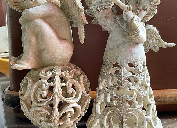 A Beautiful Pair of Decorative Angel Sculptures