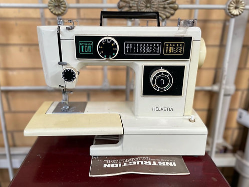 Vintage Rare Lightweight Helvetia Sewing Machine from C.1970s