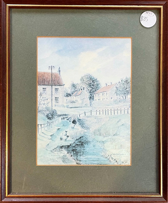 Beautiful Vintage Print of Hutton Le Hole in Yorkshire by Colinwilliamsonprints