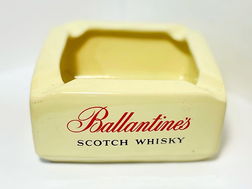 Vintage Ballantine's Scotch Whisky Ceramic Ashtray by 'Wade' (England)