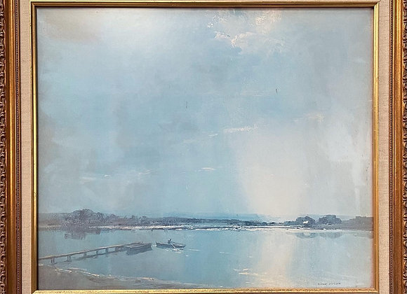 High Quality Print of W. R. Bennett's Impressionist Oil Painting from 1981