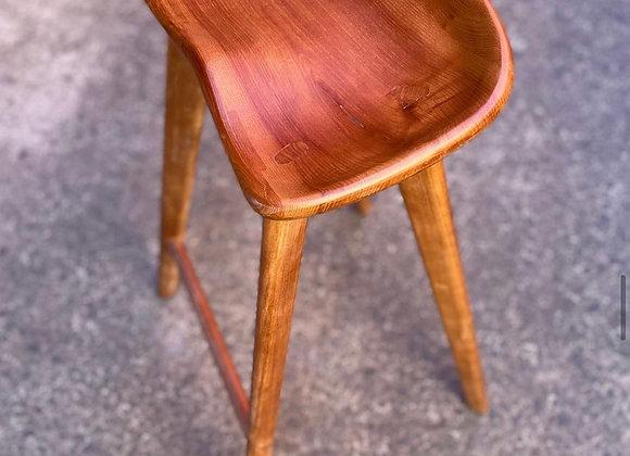 Modern Scandinavian Style Wooden Kitchen Stool