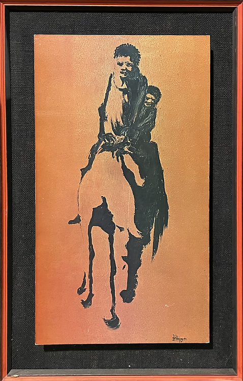Framed Vintage Print of a Painting Signed by F.Whippy (1971)