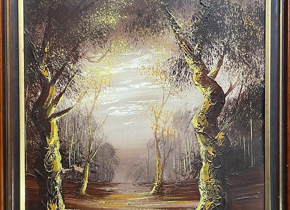 Framed Vintage Australian Landscape Artwork signed by Tyne