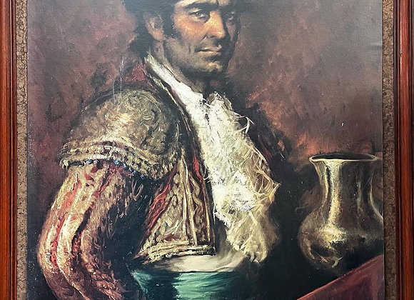 Impressive Large Framed Print of a Spanish Man