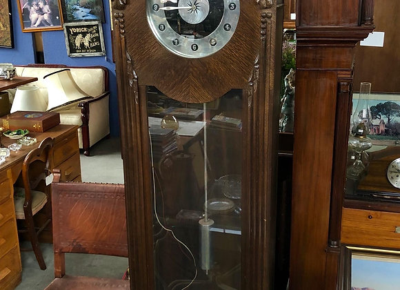 Handcrafted English Oak Electrically Operated Grandfather Clock