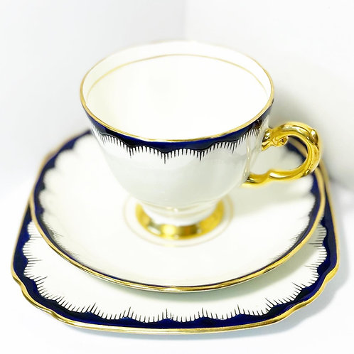 Royal Vintage 18-piece 'Plant' Tuscan China Tea Set from C.1950's (England)