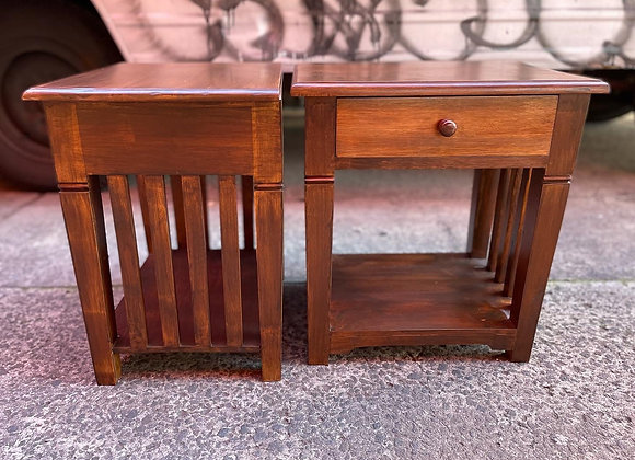Gorgeous Pair of Two 1 Drawer Vintage Bedside Tables in Very Good Condition