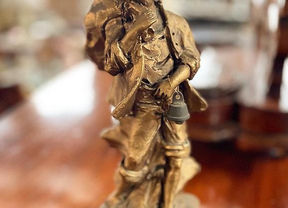 Rare Antique Collectible Antonio Parietti Alabaster Statue from C.1930's (Spain)