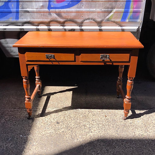 Victorian Hall Table with Castor Wheels