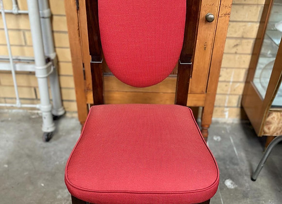 Two Stunning Fully Restored Solid Oak Chairs with Upholstery from C.1930s