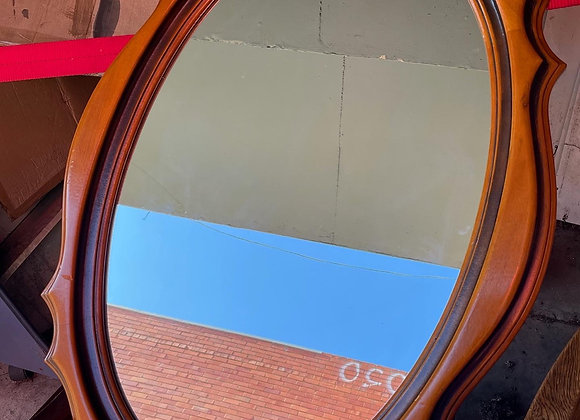 Vintage Italian Timber Wall Mirror in a Good Condition