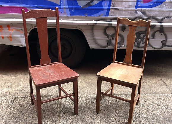 A Pair of Antique Wooden Chairs