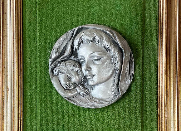 Virgin Mary & Jesus Framed Sculpture Artwork