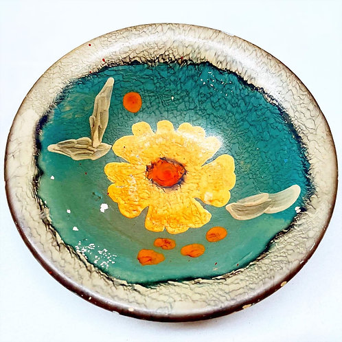 High-Quality Ceramic Hand-Painted Bowl by Unknown Artist