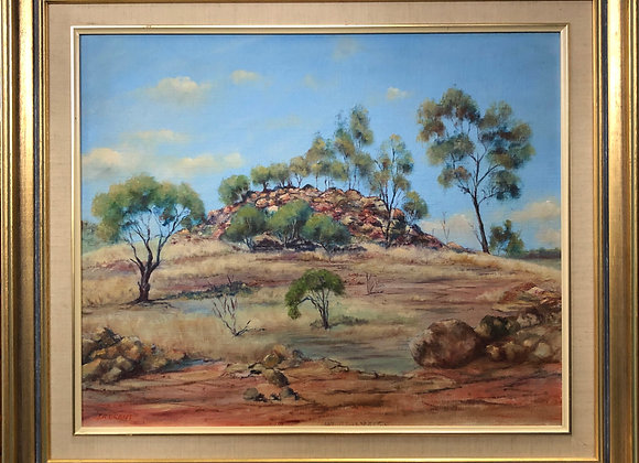 'Mt. Bendermere' by J. R. Grant, NSW, Australia. Oil painting