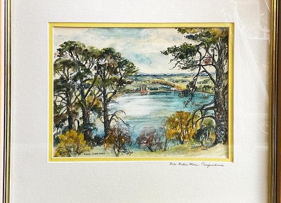 Original Artwork 'Lake Bullen Merri - Camperdown' signed by Enid Cummins