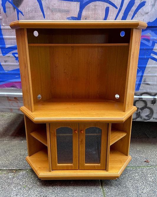 Vintage Corner 2 Door TV Cabinet in Good Condition