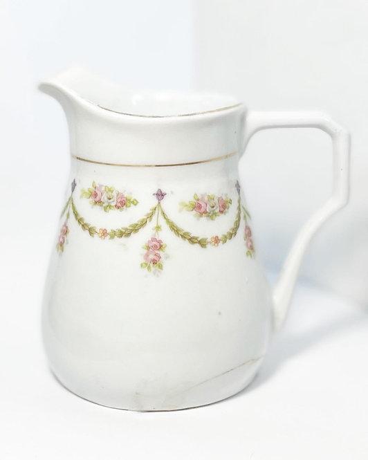 Elegant Vintage Milk Jug/Pitcher with Floral Festoon Ornaments