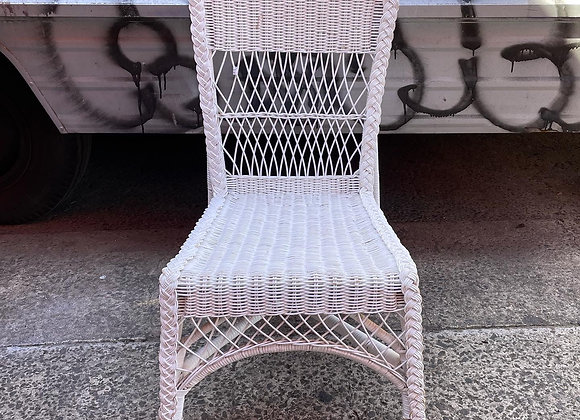 White Outdoor Rattan Dining Chair