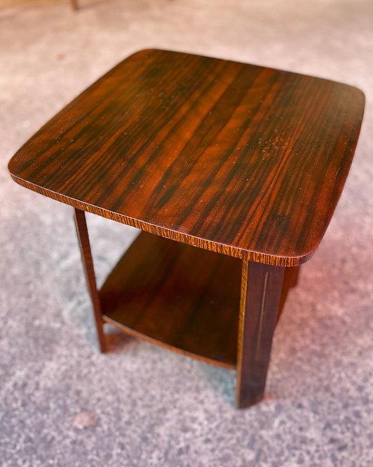 Impressive Art Deco Fiddleback Coffee Table manufactured by 'Fecla'