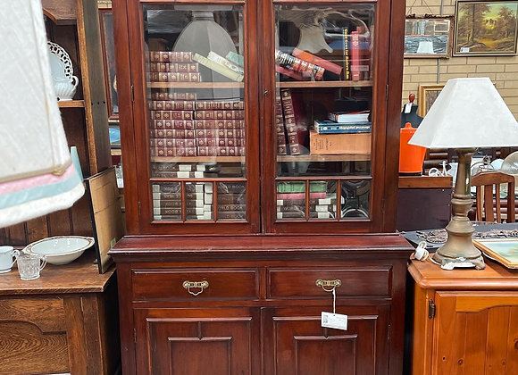 Original Georgian Mahogany 4-Tier Bookshelf