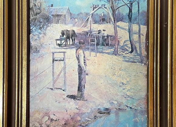Stunning Small Size Framed Reproduction Painting