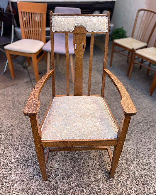 Really Good Quality Solid Antique English Oak Armchair