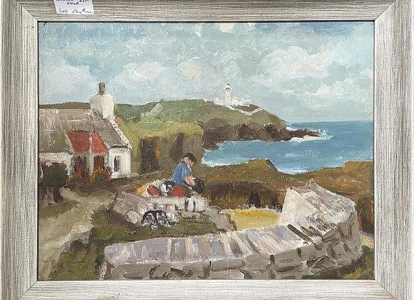 Vintage Oil on Canvas Landscape Artwork by Unknown Artist