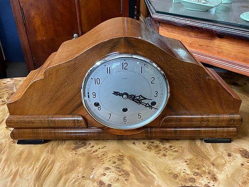 Beautiful Walnut Art Deco Mantle Clock