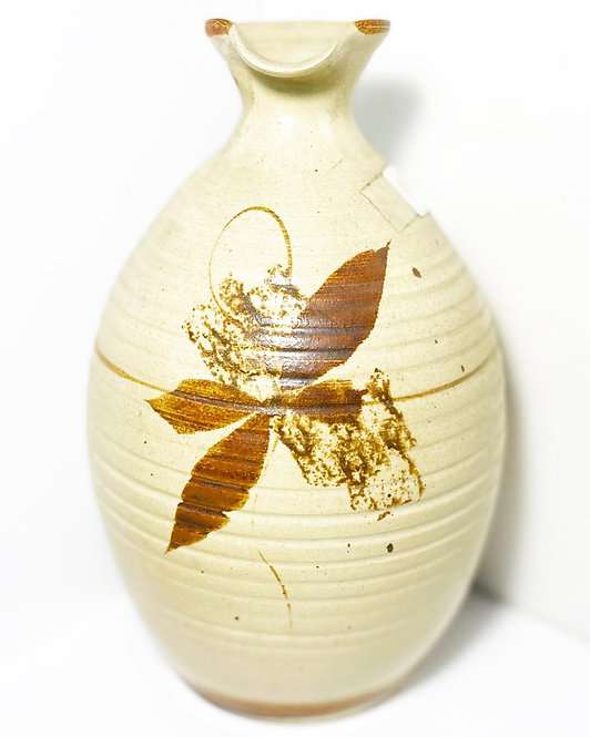 Hand-Made Vintage Ceramic Pitcher by Leonard's Bridge Pottery from C.1980s