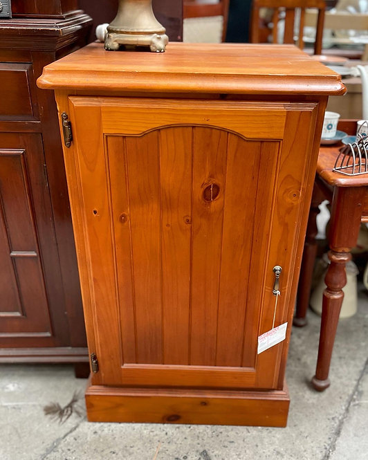 Australian Vintage Pine Wood Safe Cabinet in Good Condition