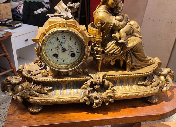 Antique French Ormolu Mantle Clock by P H Mourey