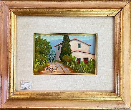 Small Size Impressionist Landscape Painting on Canvas Signed by Piazzini