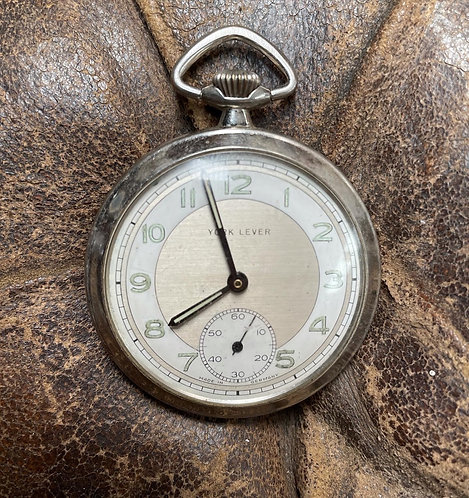 Beautiful Vintage York Lever Pocket Watch from C.1940s (Germany)